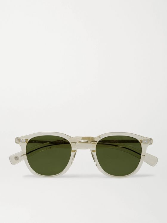 GARRETT LEIGHT CALIFORNIA OPTICAL Hampton X Round-Frame Acetate Sunglasses