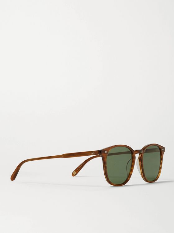 GARRETT LEIGHT CALIFORNIA OPTICAL Clark Round-Frame Tortoiseshell Acetate Sunglasses