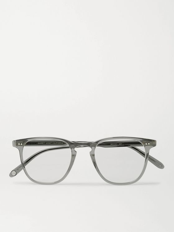 GARRETT LEIGHT CALIFORNIA OPTICAL Brooks D-Frame Acetate Optical Glasses