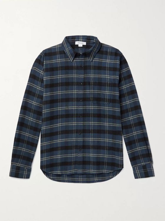 FRAME Checked Cotton-Flannel Shirt