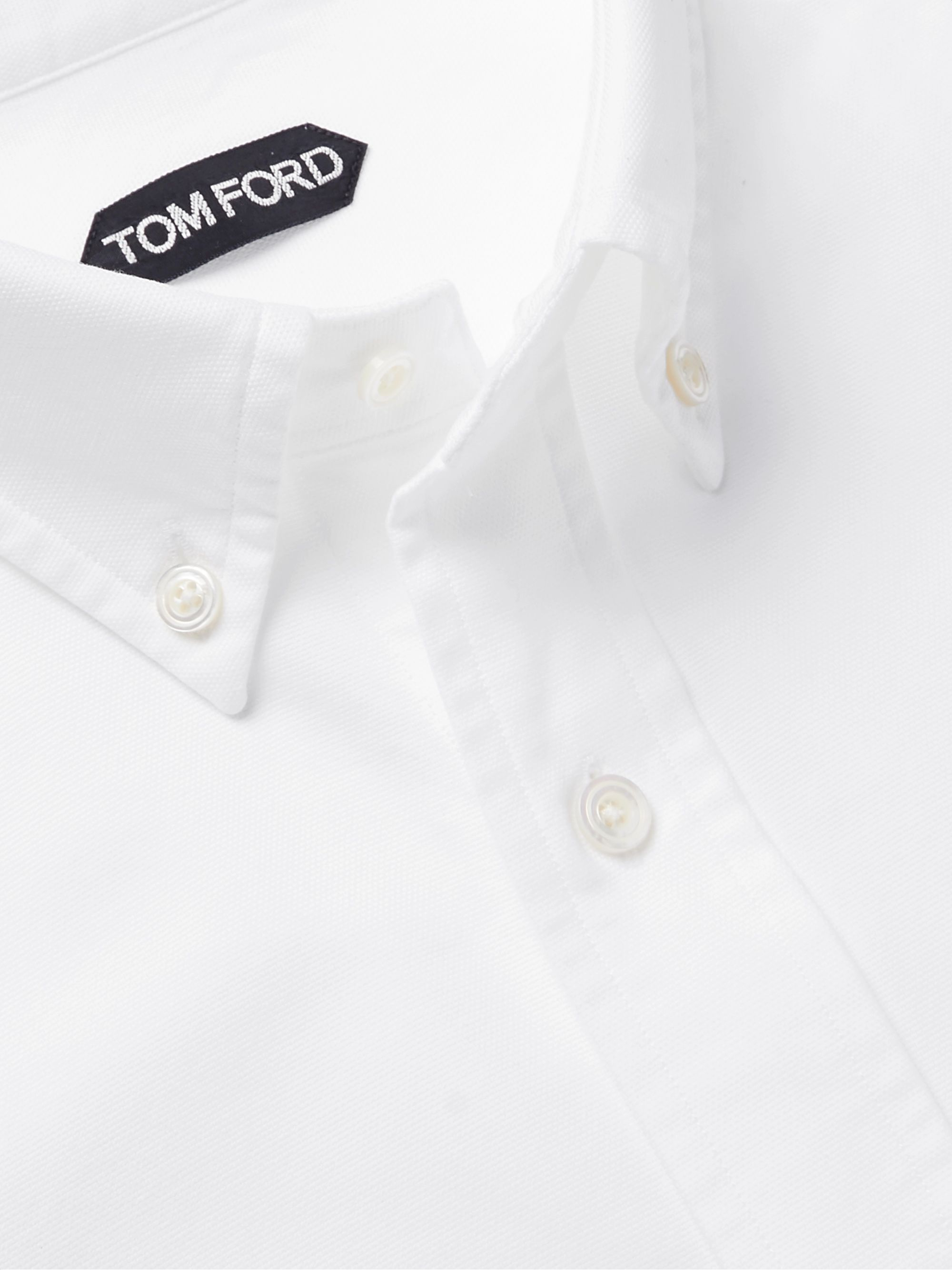 TOM FORD Slim-Fit Button-Down Collar Cotton Oxford Shirt