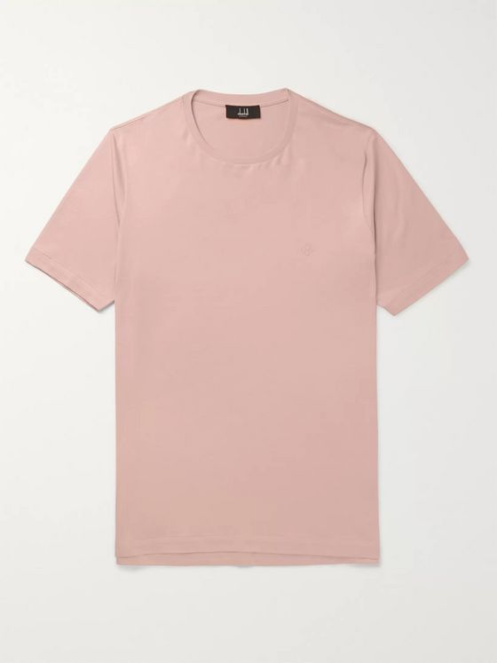 Dunhill Logo-Embroidered Cotton-Jersey T-Shirt