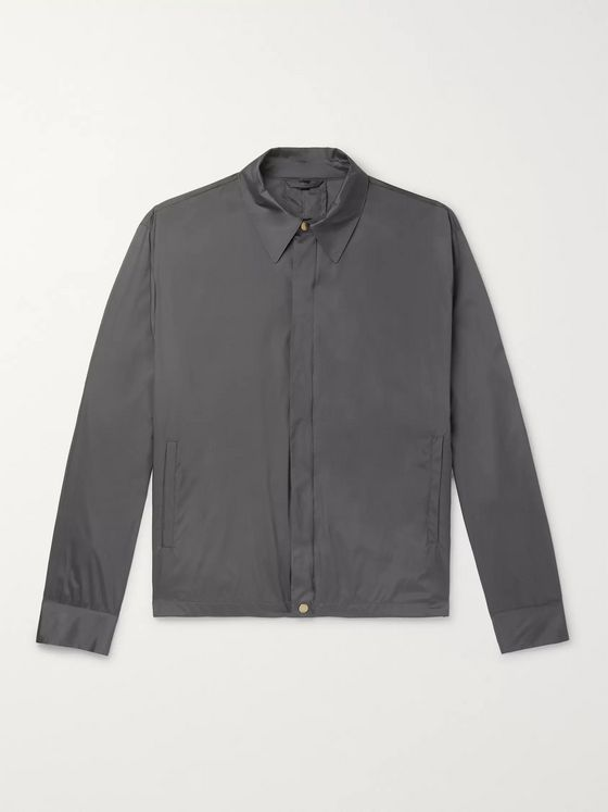 Dunhill Coated Mulberry Silk Blouson Jacket
