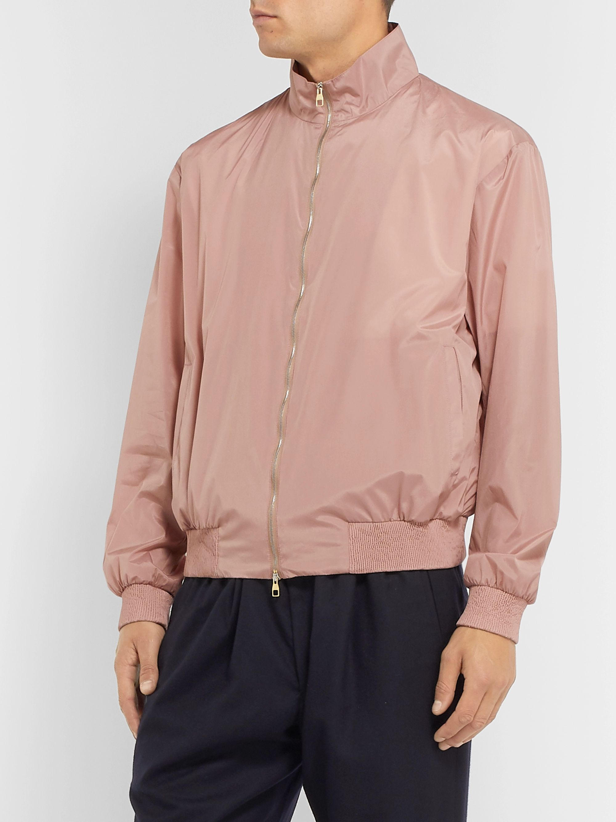 Dunhill Coated Mulberry Silk Bomber Jacket