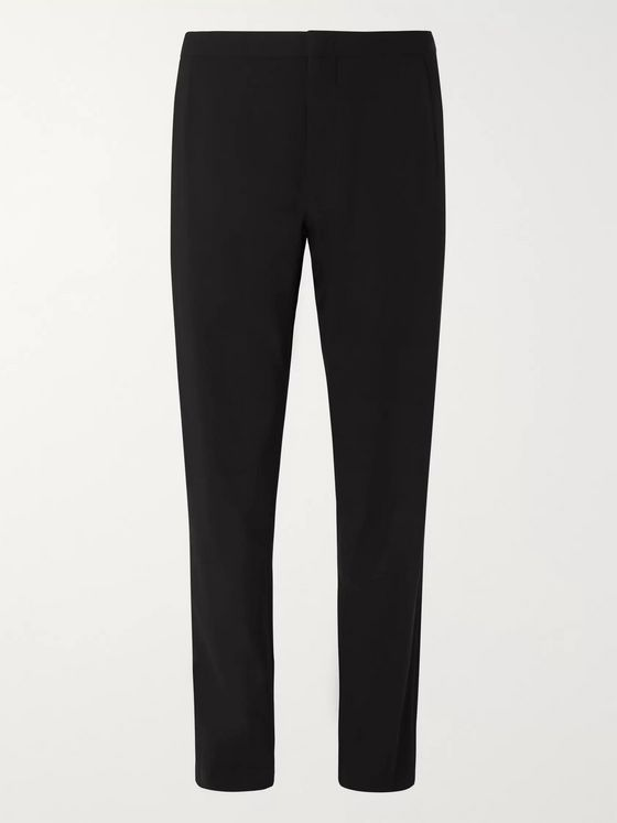 Giorgio Armani Black Virgin Wool Tuxedo Trousers