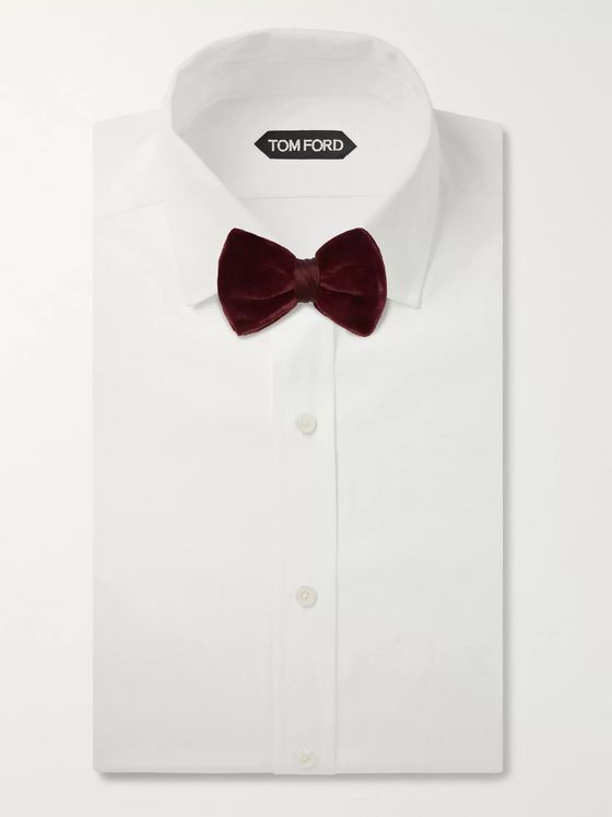 Giorgio Armani Pre-Tied Velvet and Silk-Blend Satin Bow Tie