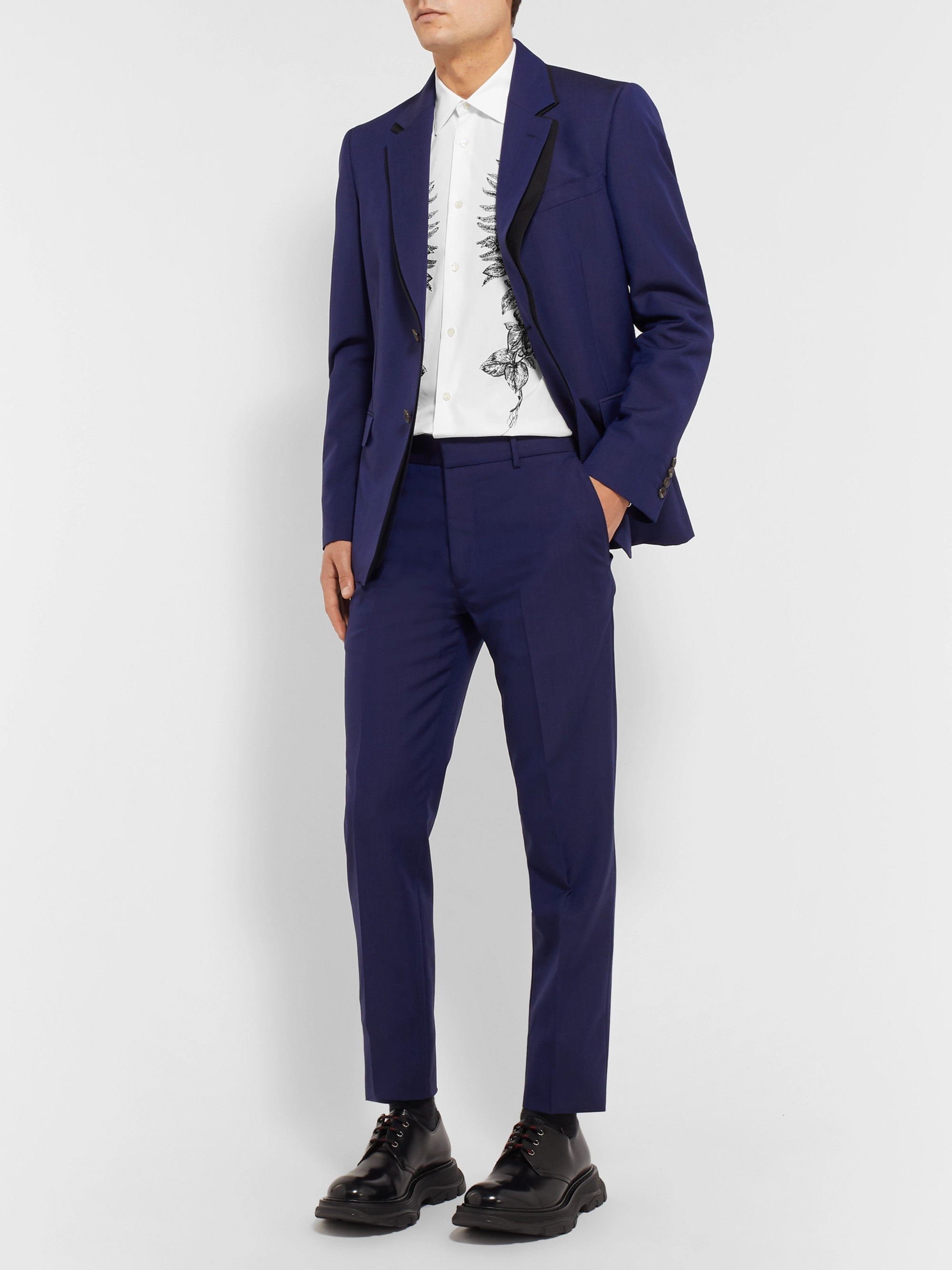 Alexander McQueen Slim-Fit Embroidered Cotton Shirt