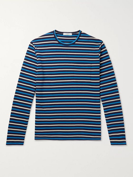 Mr P. Striped Japanese Cotton T-Shirt