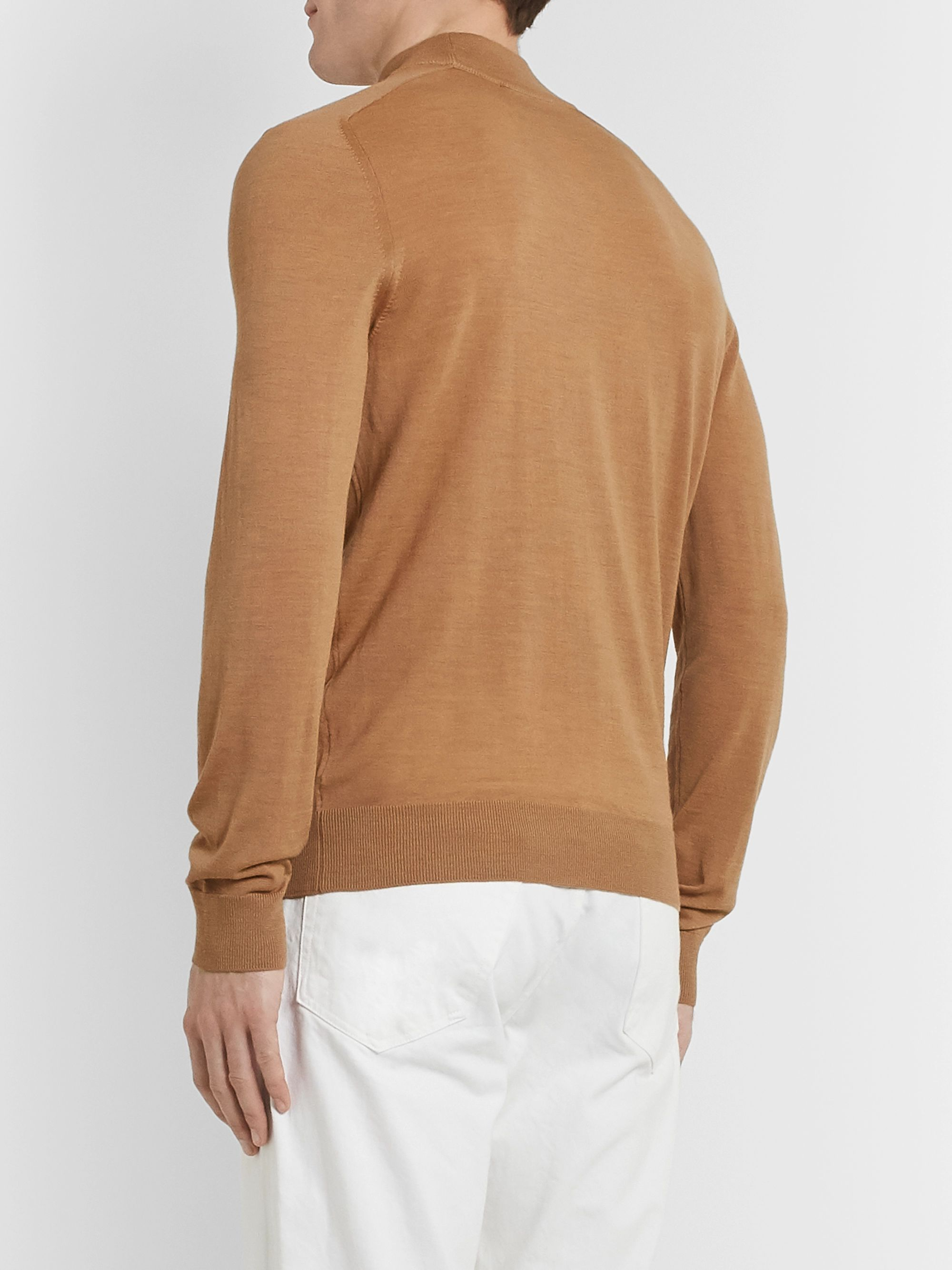 Mr P. Mélange Merino Wool Rollneck Sweater