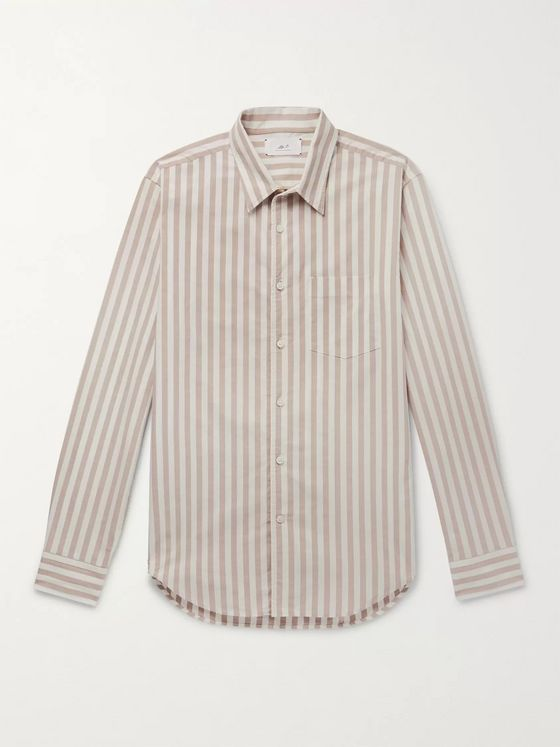 Mr P. Striped Cotton Oxford Shirt