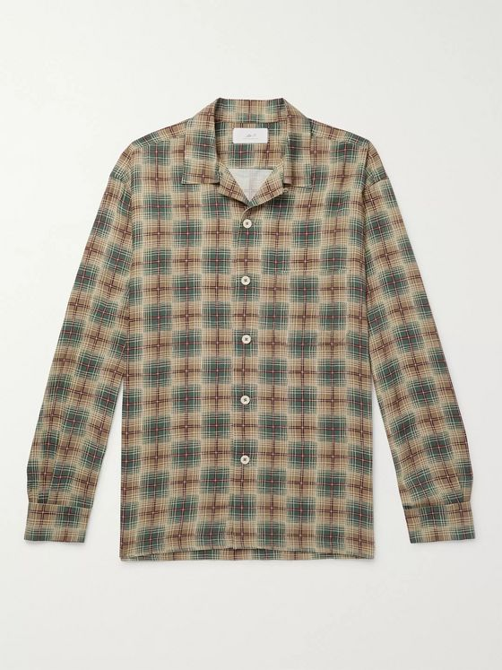 MR P. Camp-Collar Checked Woven Shirt