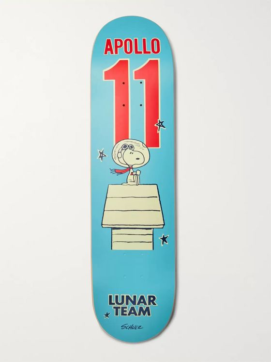 THE SKATEROOM + Peanuts Printed Wooden Skateboard