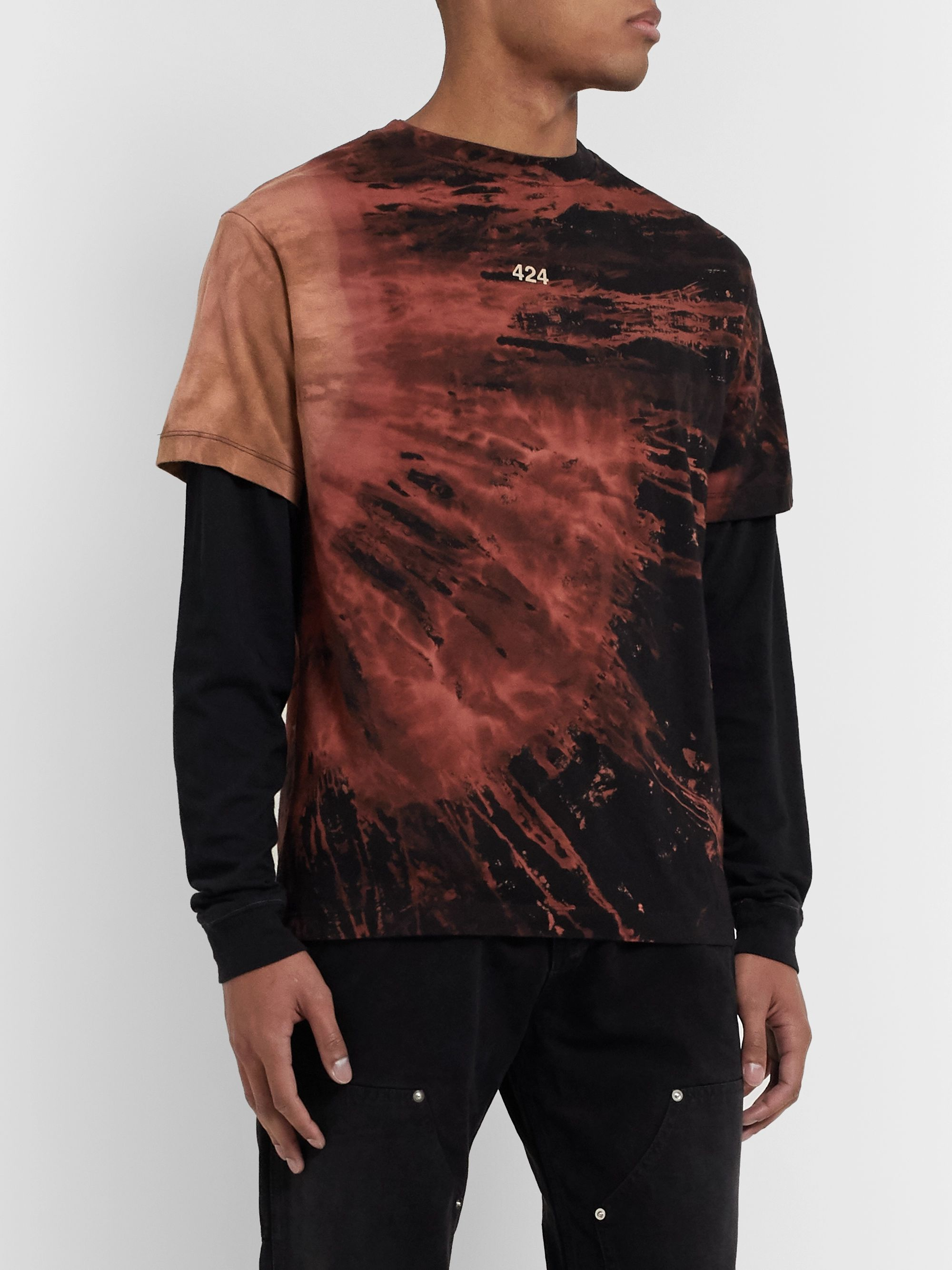 424 Layered Bleached Cotton-Jersey T-Shirt