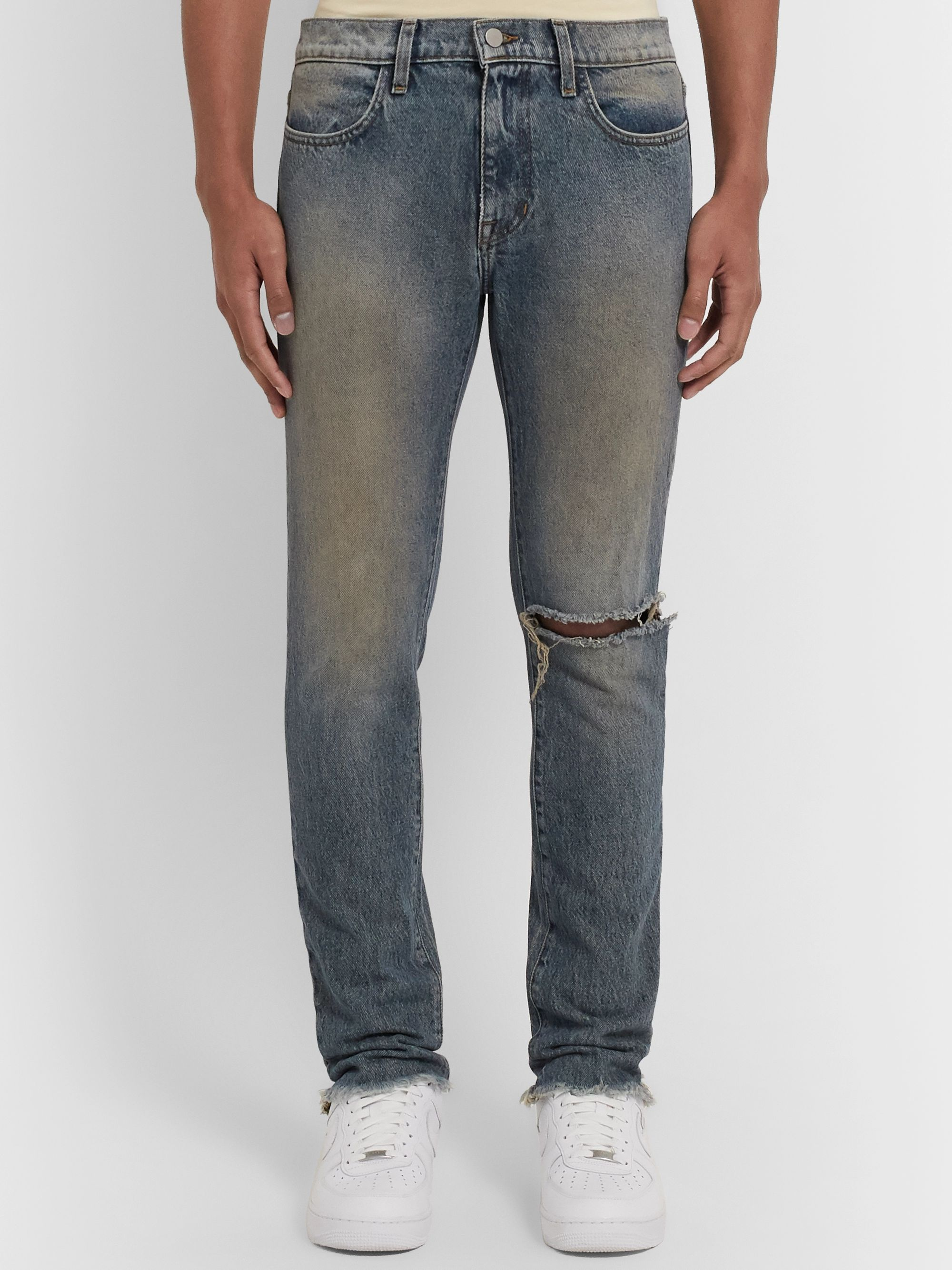 424 Distressed Denim Jeans