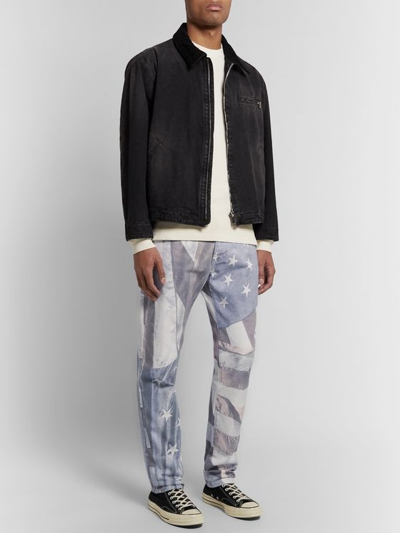 424 Printed Denim Jeans
