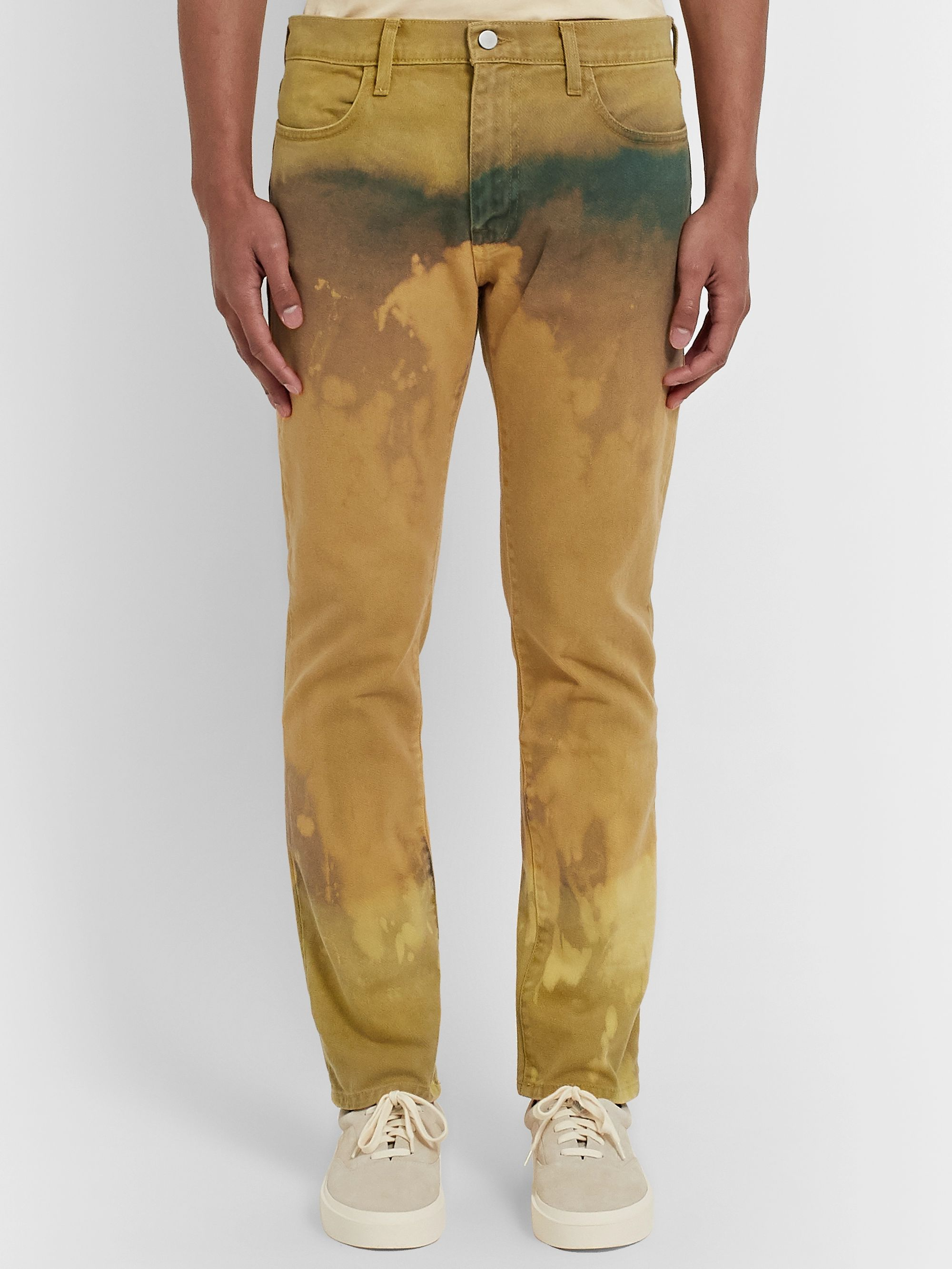 424 Slim-Fit Bleached Denim Jeans