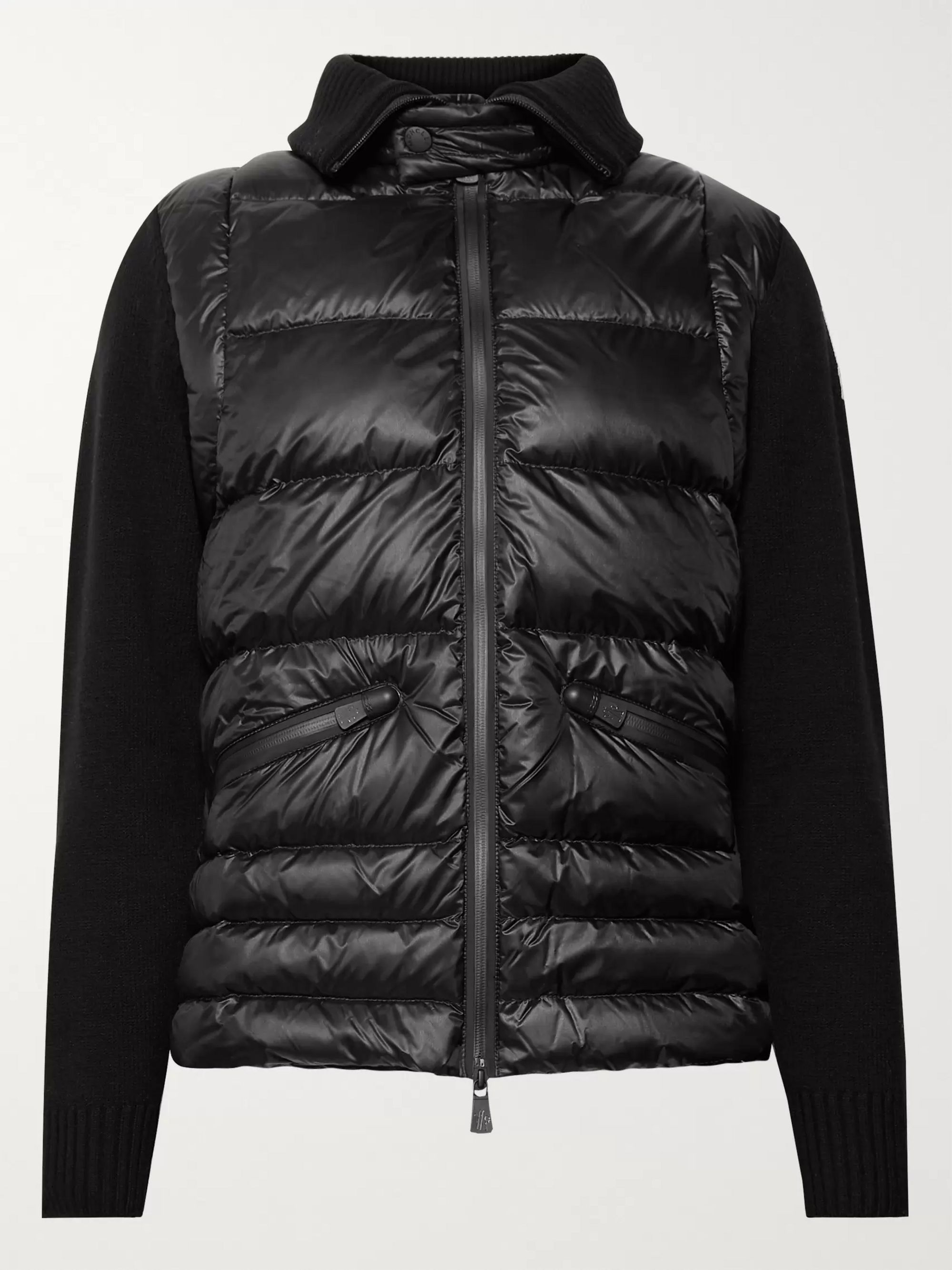 Moncler Grenoble Wool-Blend and Quilted Shell Down Ski Jacket