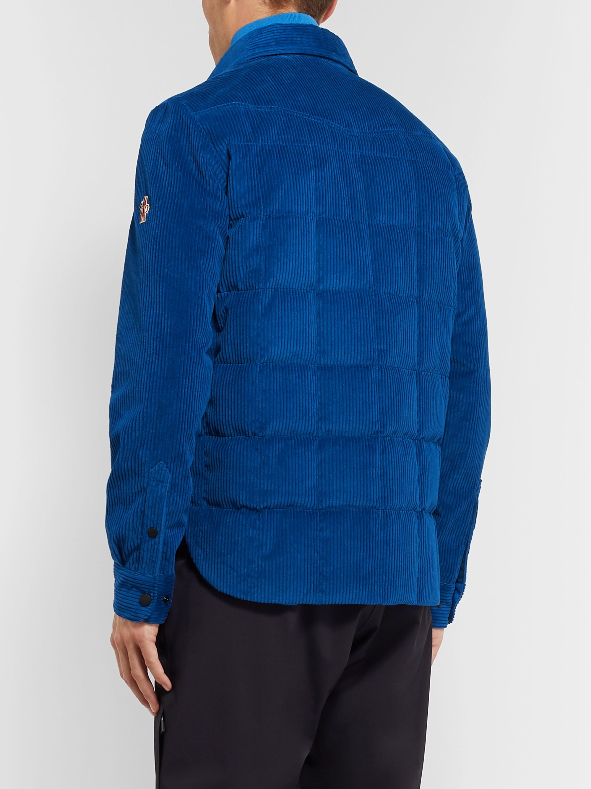 Moncler Grenoble Gelt Quilted Cotton-Blend Corduroy Down Jacket