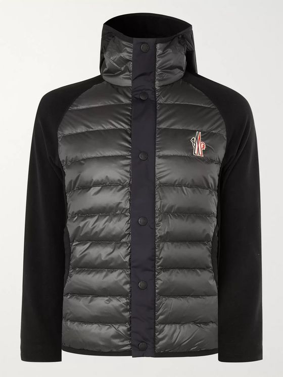 Moncler Grenoble Quilted Panelled Stretch Tech-Jersey Hooded Down Ski Jacket