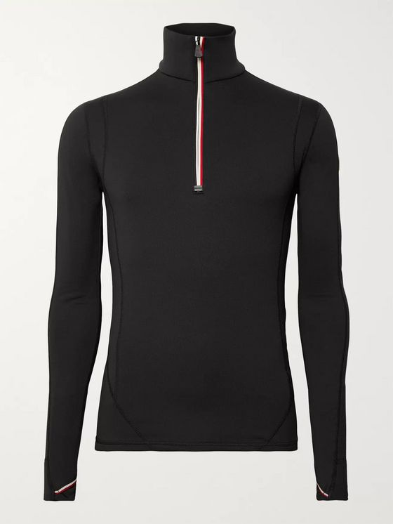 Moncler Grenoble Lupetto Stretch-Jersey Half-Zip Mid-Layer