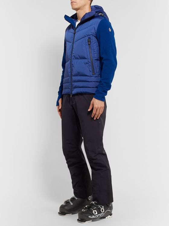 Moncler Grenoble Quilted Panelled Stretch-Fleece Hooded Down Ski Jacket