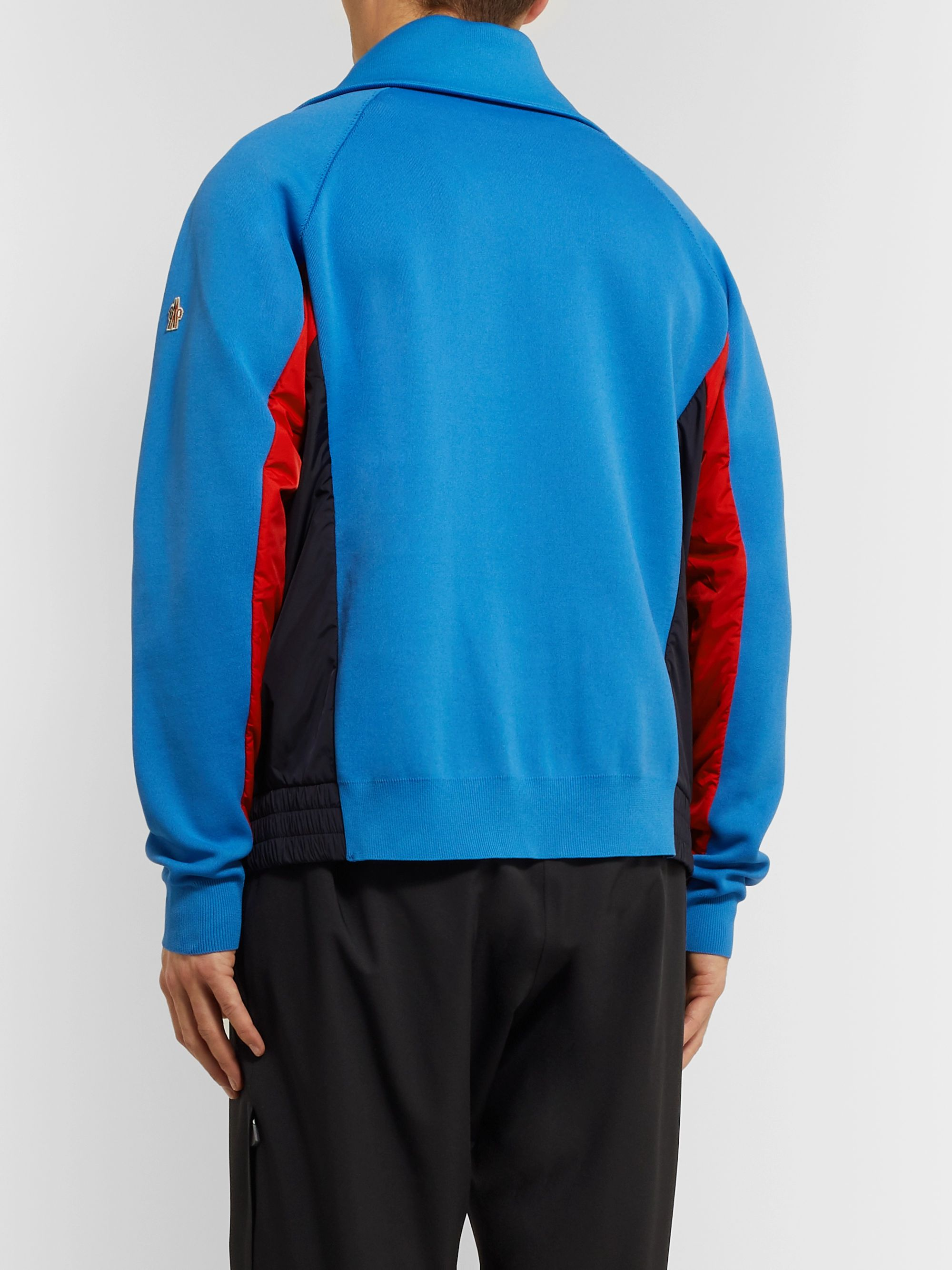 Moncler Grenoble Tech-Jersey Zip-Up Ski Sweater