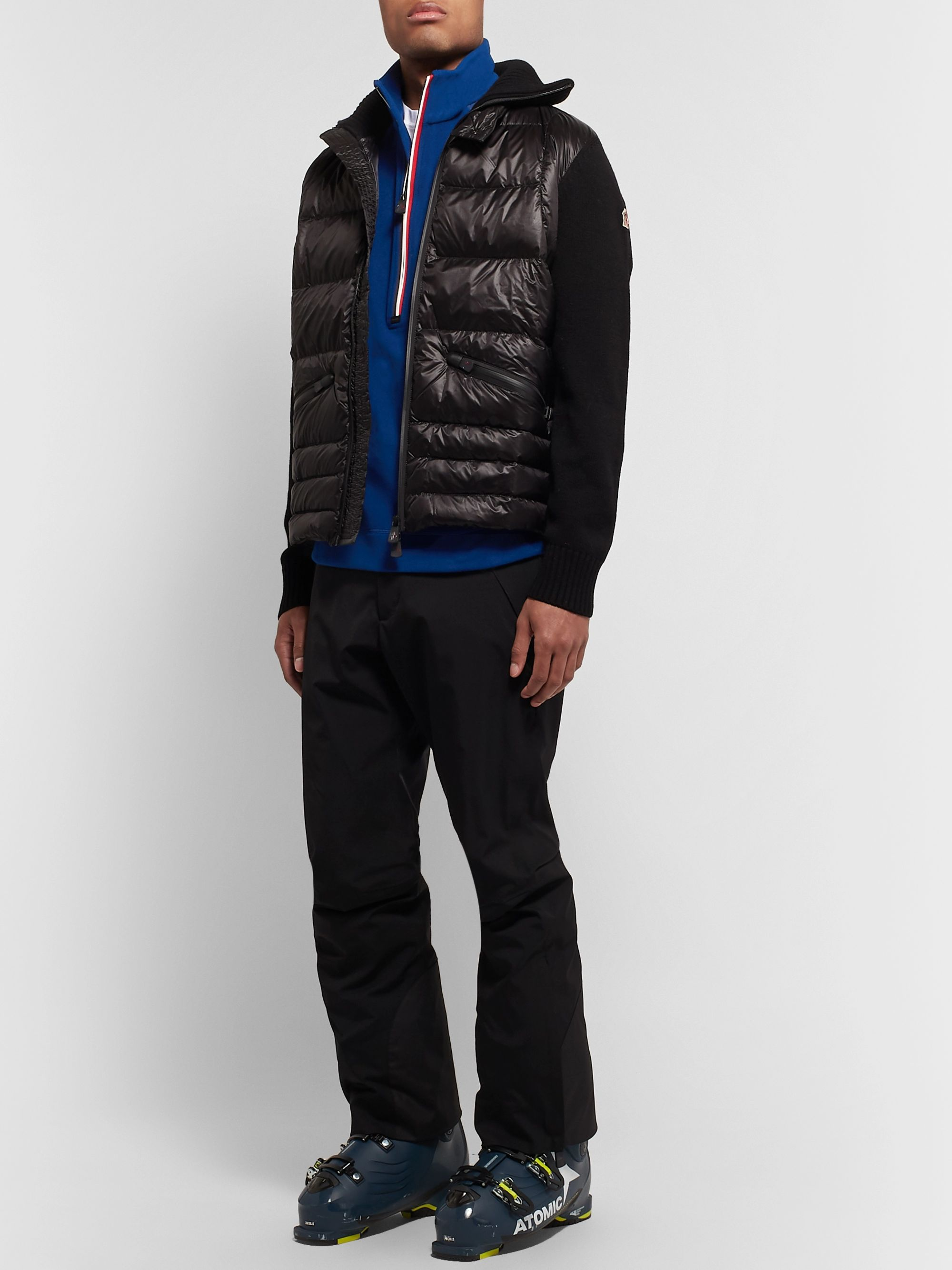Moncler Grenoble Shell-Trimmed Fleece Half-Zip Base Layer