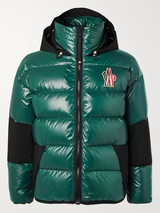 Moncler Grenoble Gollinger Panelled Quilted Glossed-Nylon Hooded Down Ski Jacket