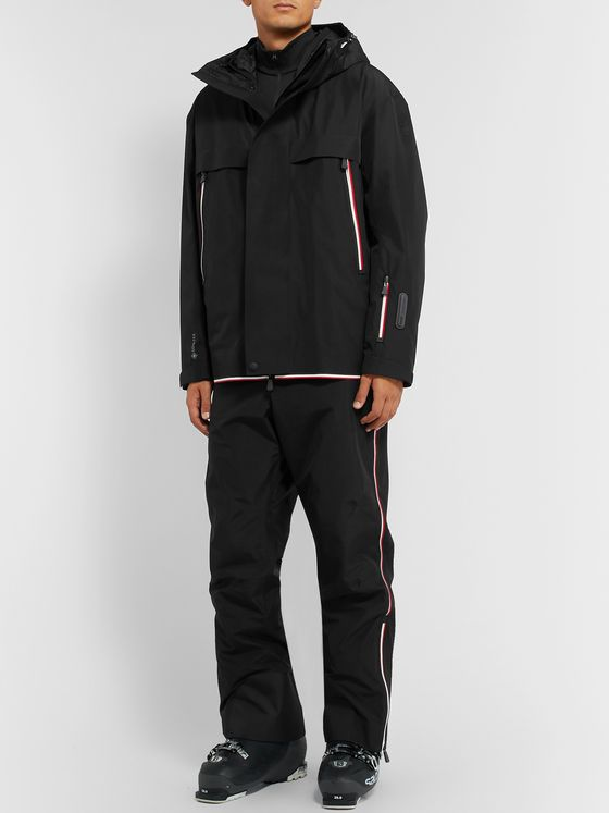 Moncler Grenoble Miller Striped Hooded Down Ski Jacket