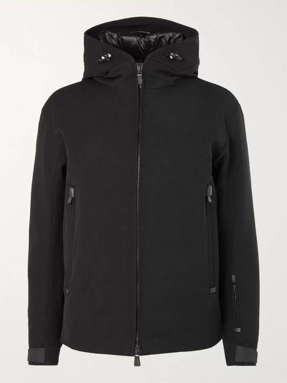 Moncler Grenoble Praz Hooded Twill Down Jacket