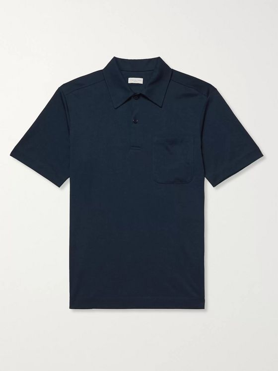 Dries Van Noten Slim-Fit Cotton Polo Shirt