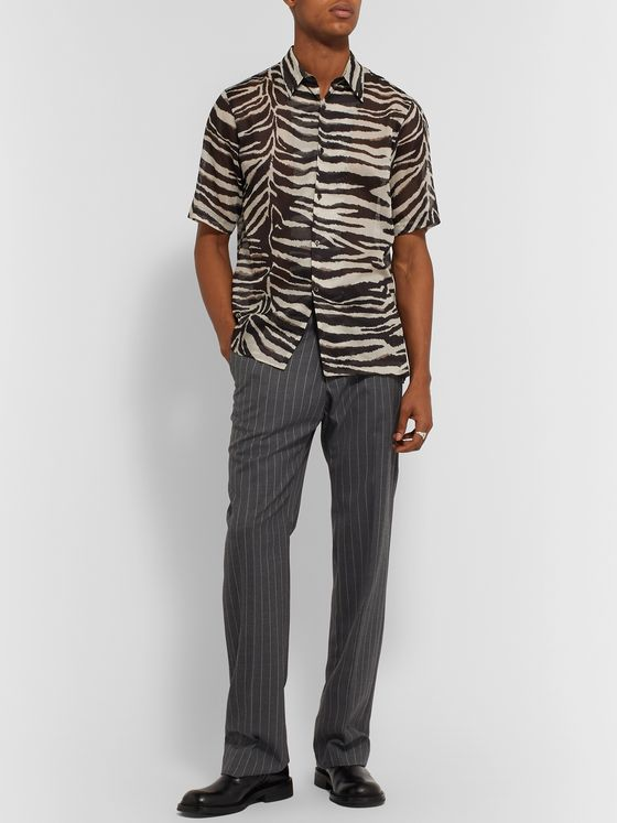 Dries Van Noten Zebra-Print Cotton Shirt