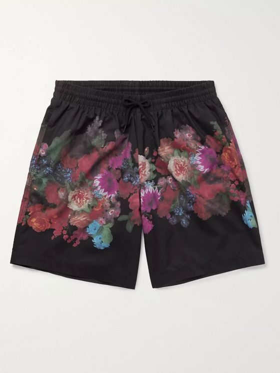 Dries Van Noten Mid-Length Printed Swim Shorts