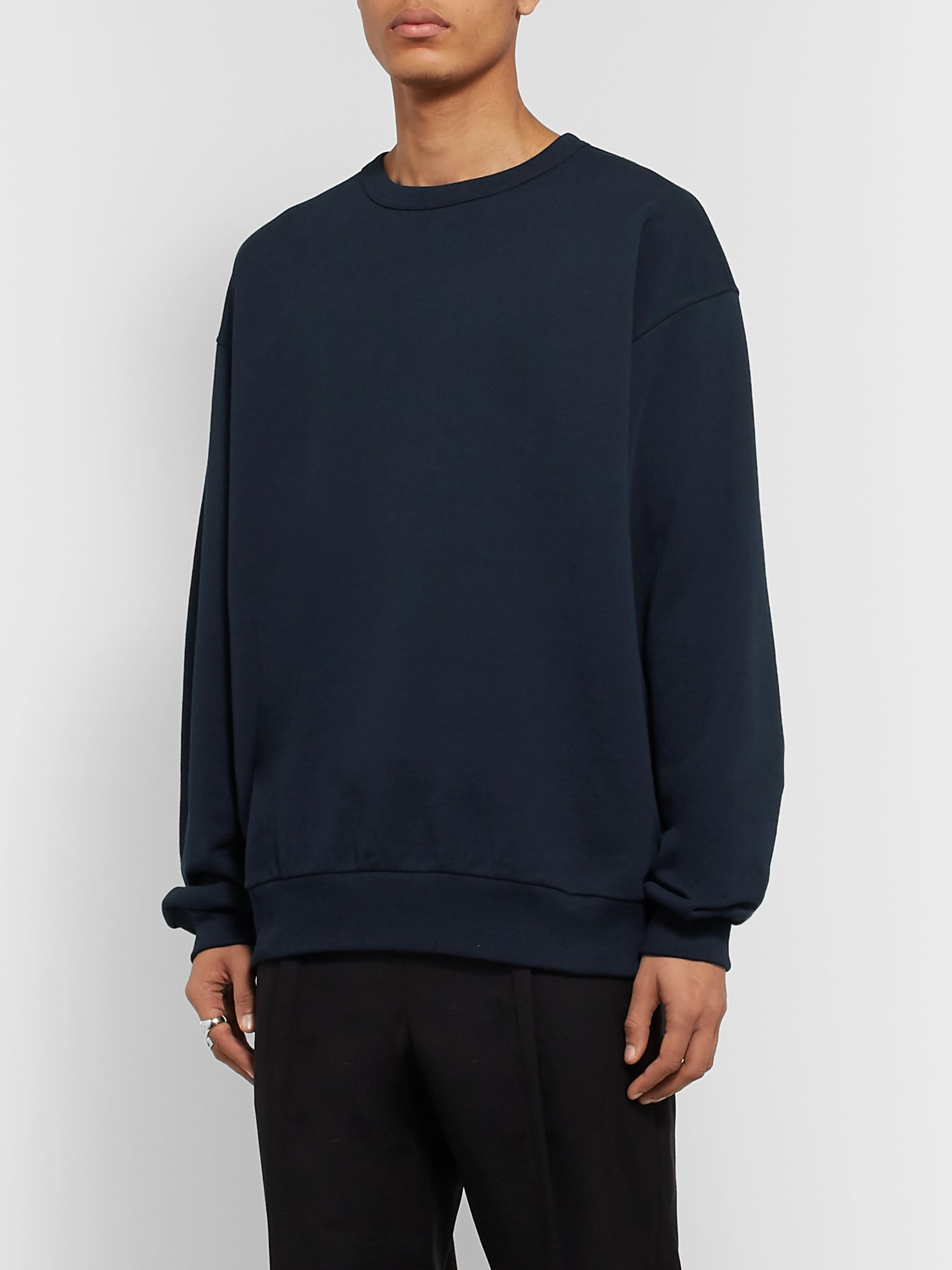Dries Van Noten Loopback Cotton-Jersey Sweatshirt