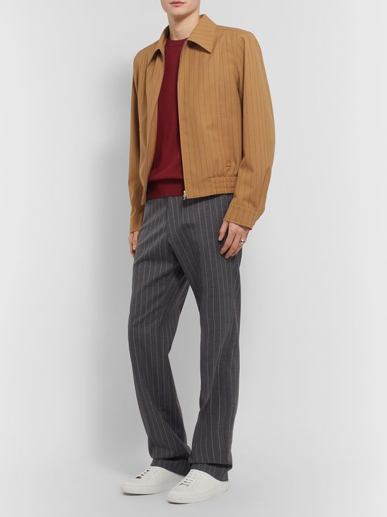 Dries Van Noten Pinstriped Woven Jacket