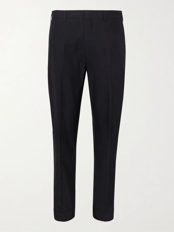 DRIES VAN NOTEN Tapered Cotton-Twill Suit Trousers