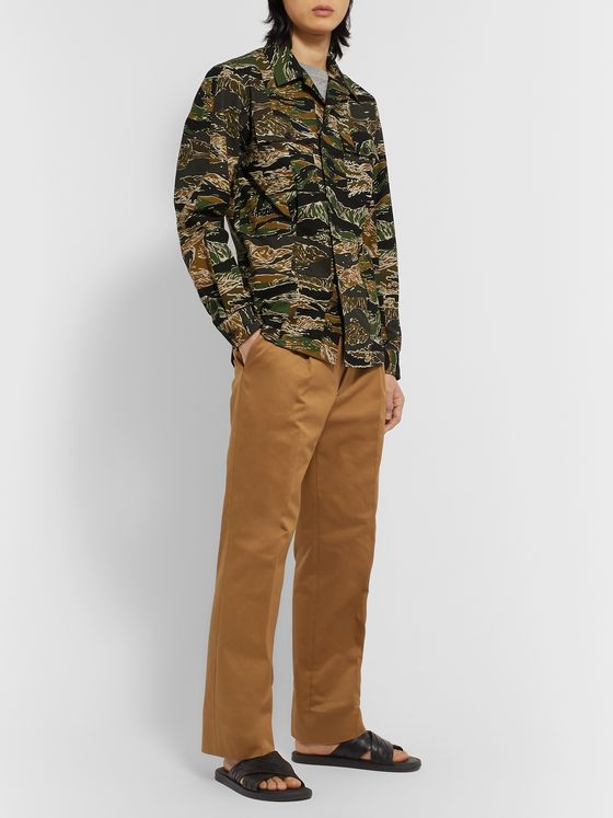 Dries Van Noten Cavendish Camouflage Cotton-Ripstop Overshirt