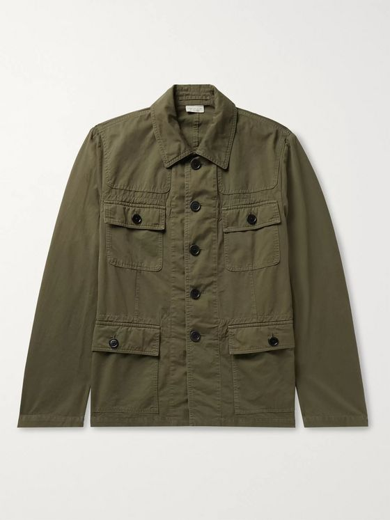 Dries Van Noten Slim-Fit Cotton-Twill Field Jacket