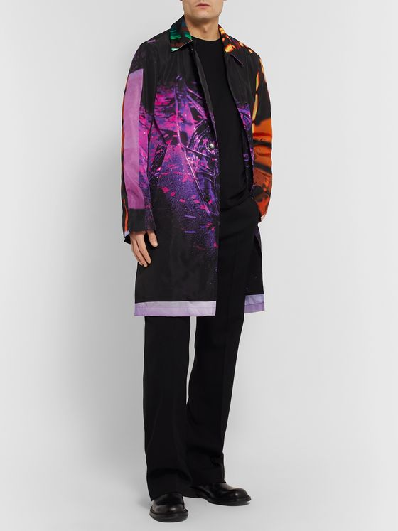 Dries Van Noten Oversized Printed Shell Trench Coat