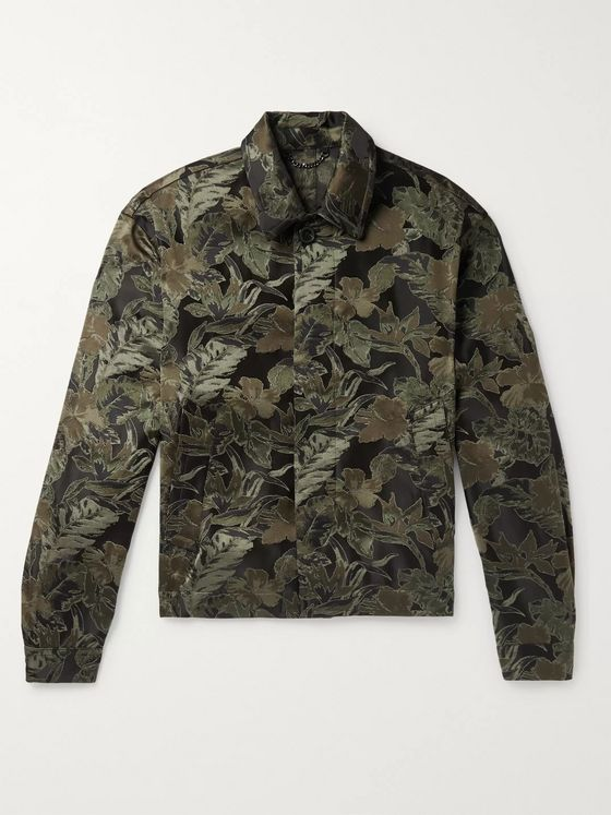 Dries Van Noten Jacquard Woven Blouson Jacket