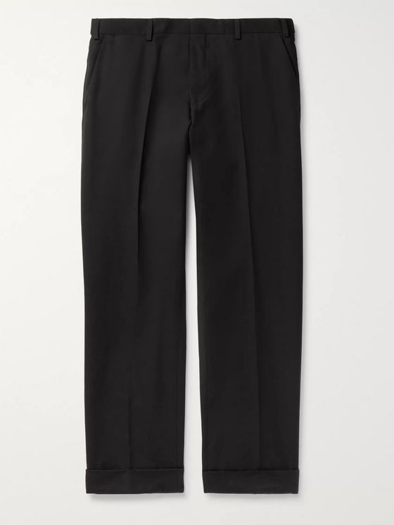 Dries Van Noten Tapered Cotton and Wool-Blend Twill Trousers