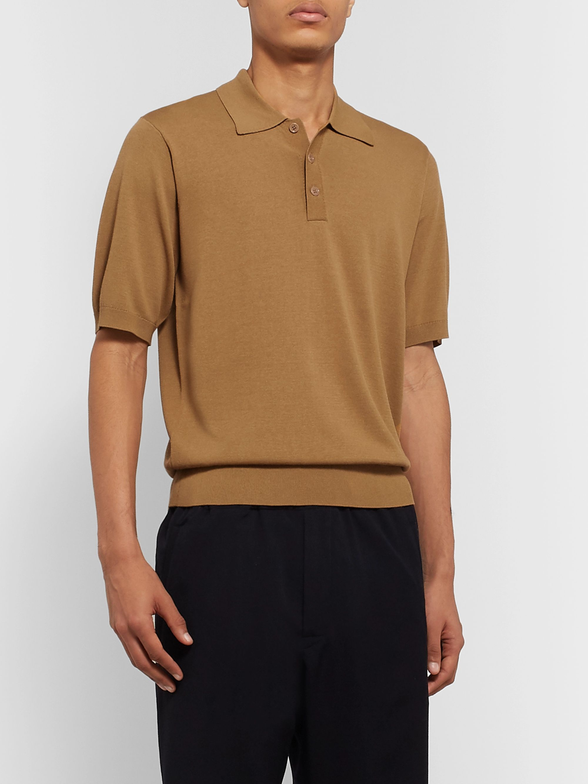 Dries Van Noten Knitted Polo Shirt