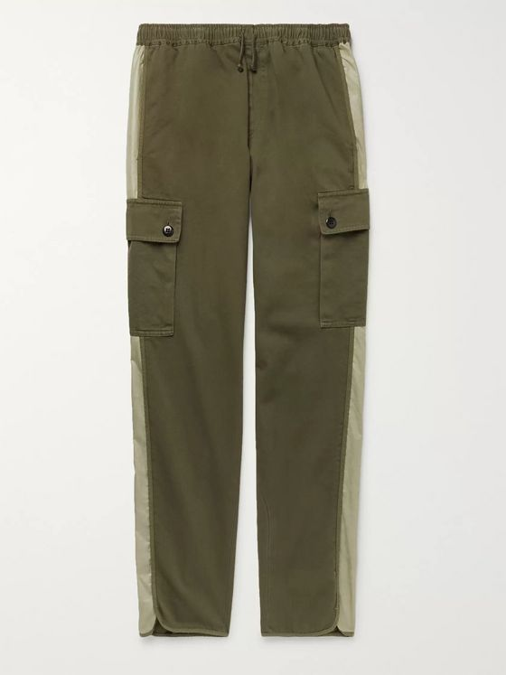 Dries Van Noten Contrast-Trimmed Cotton-Twill Cargo Trousers