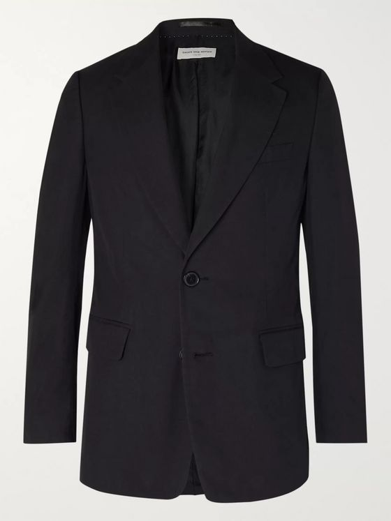 Dries Van Noten Cotton-Twill Suit Jacket