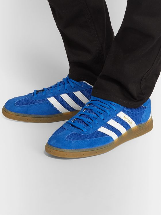 adidas Originals Handball Spezial Suede, Mesh and Leather Sneakers