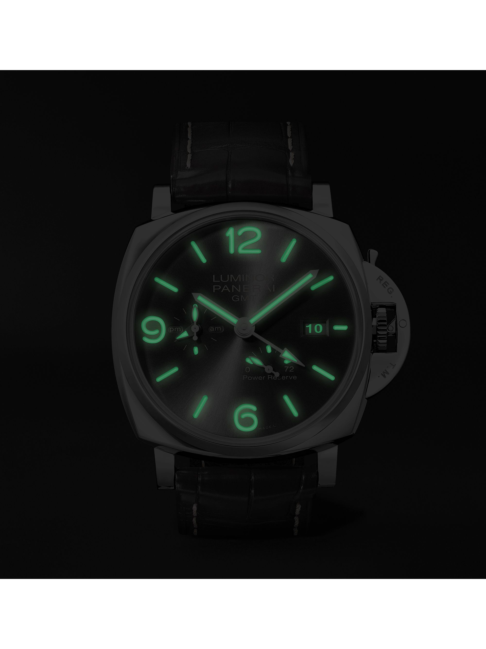 Panerai Luminor Due GMT Automatic 45mm Stainless Steel and Alligator Watch, Ref. No. PAM00944