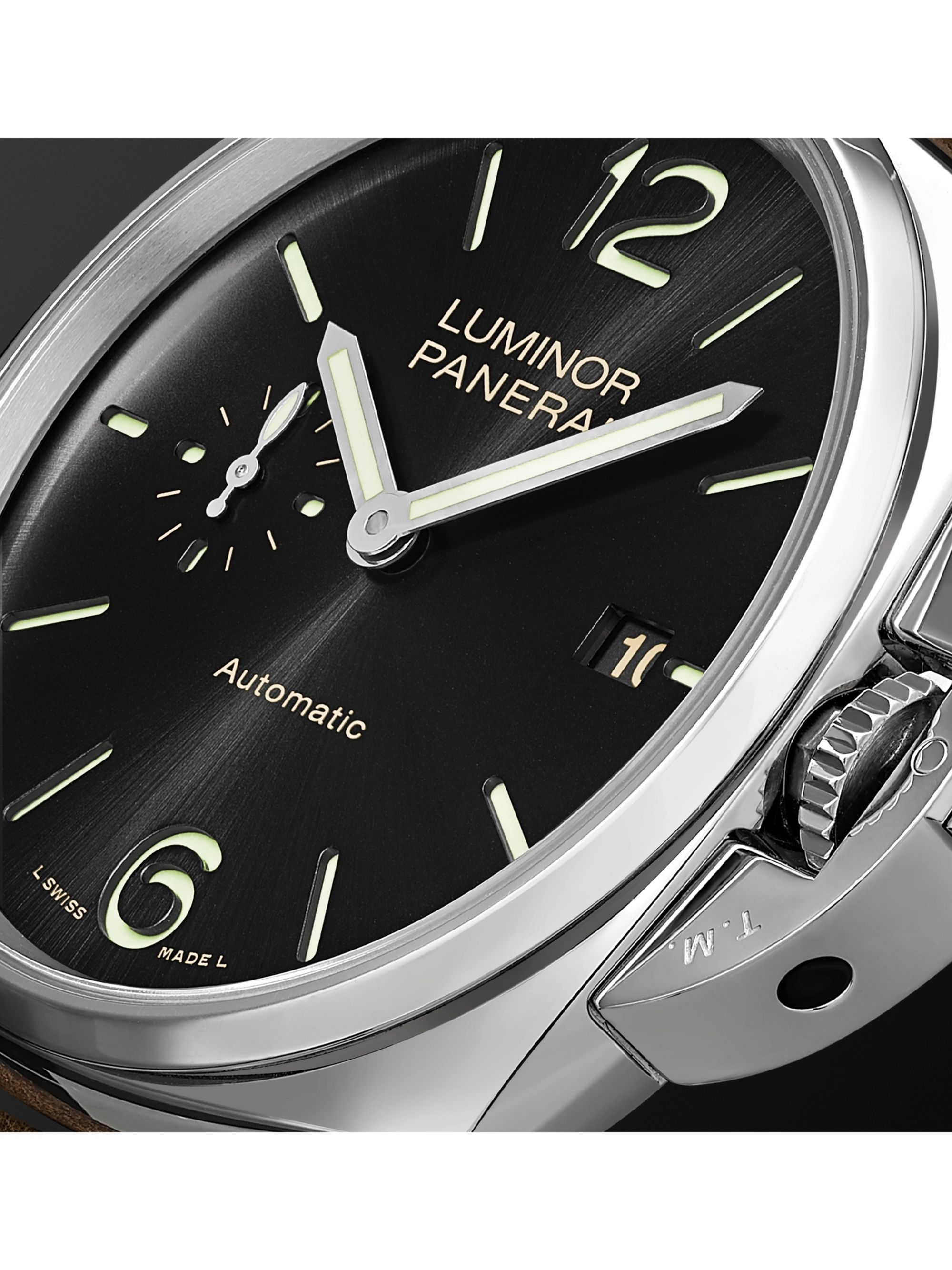Panerai Luminor Due Automatic 42mm Stainless Steel and Leather Watch, Ref. No. PAM00906