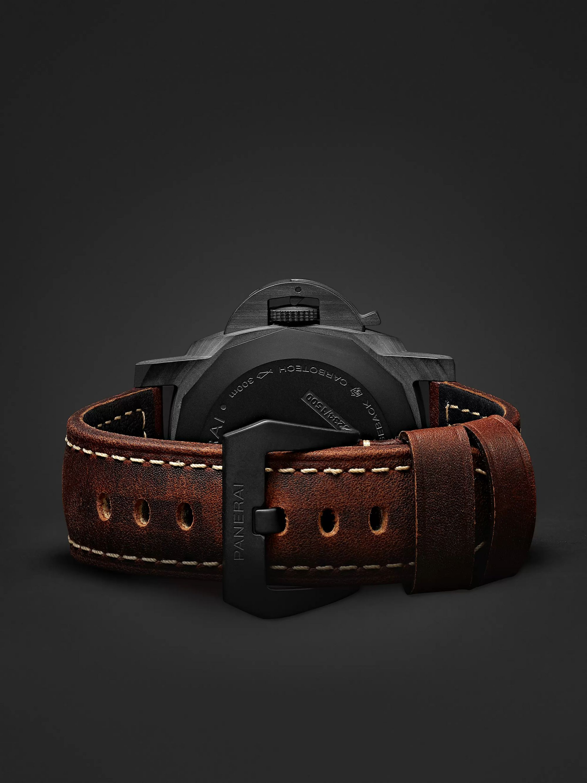 Panerai Luminor Marina 1950 3 Days Automatic 44mm Carbotech and Leather Watch, Ref. No. PAM00661