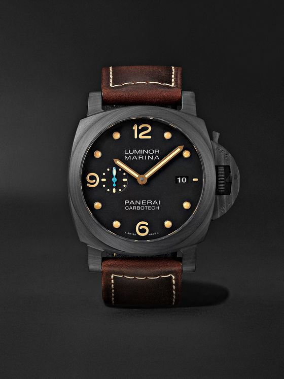 Panerai Luminor Marina 1950 3 Days Automatic 44mm Carbotech and Leather Watch, Ref. No. PAM01616