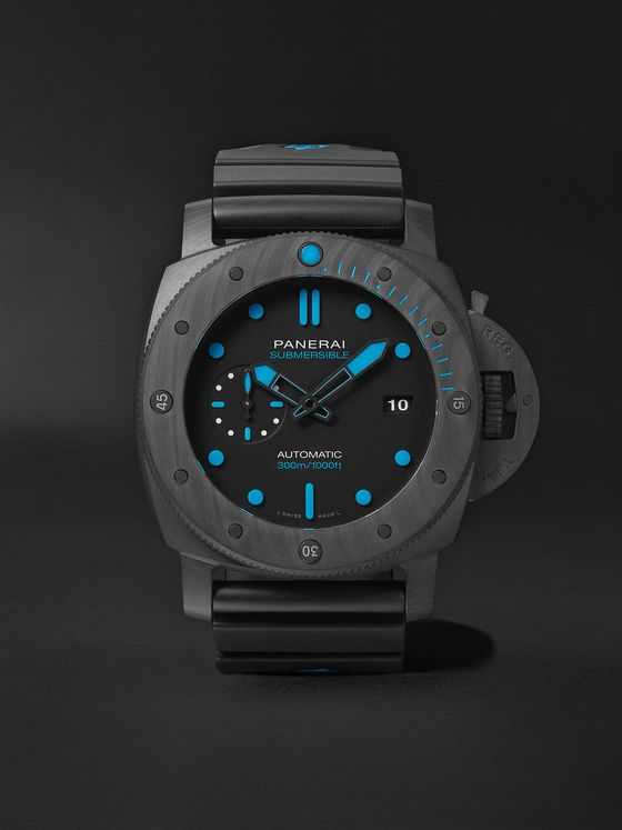 Panerai Submersible Automatic 47mm Carbotech and Rubber Watch, Ref. No. PNPAM01616